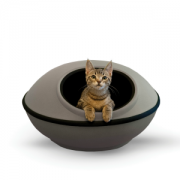 K and H cat Mod Pod grey and black