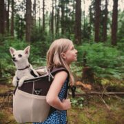 One 4 Pets eva carrier used as back pack gallery shot.