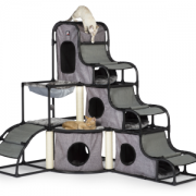 Prevue Cat Tower with cats