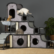 Prevue Cat tower with 3 cats