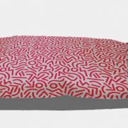 Be One Breed Cloud Pillow red confetti