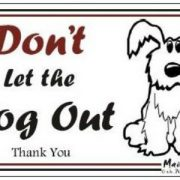 Magnet Don't let the Dog out2