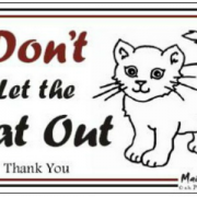 Magnet Don't let the cat out2