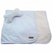 Fou Fou Dog Blue Puppy Blanket